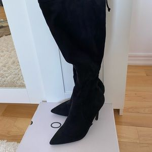 Over the Knee Suede Heeled boots